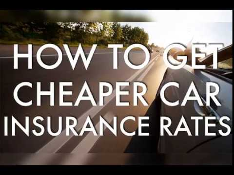 How To Get A Cheaper Car Insurance