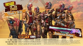 Borderlands The Pre Sequel: Fall Customization SHiFT Codes! Boomacorn and Turkey heads/skins