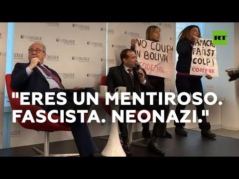 Manifestantes A Favor De Morales Interrumpen Una Entrevista A Camacho