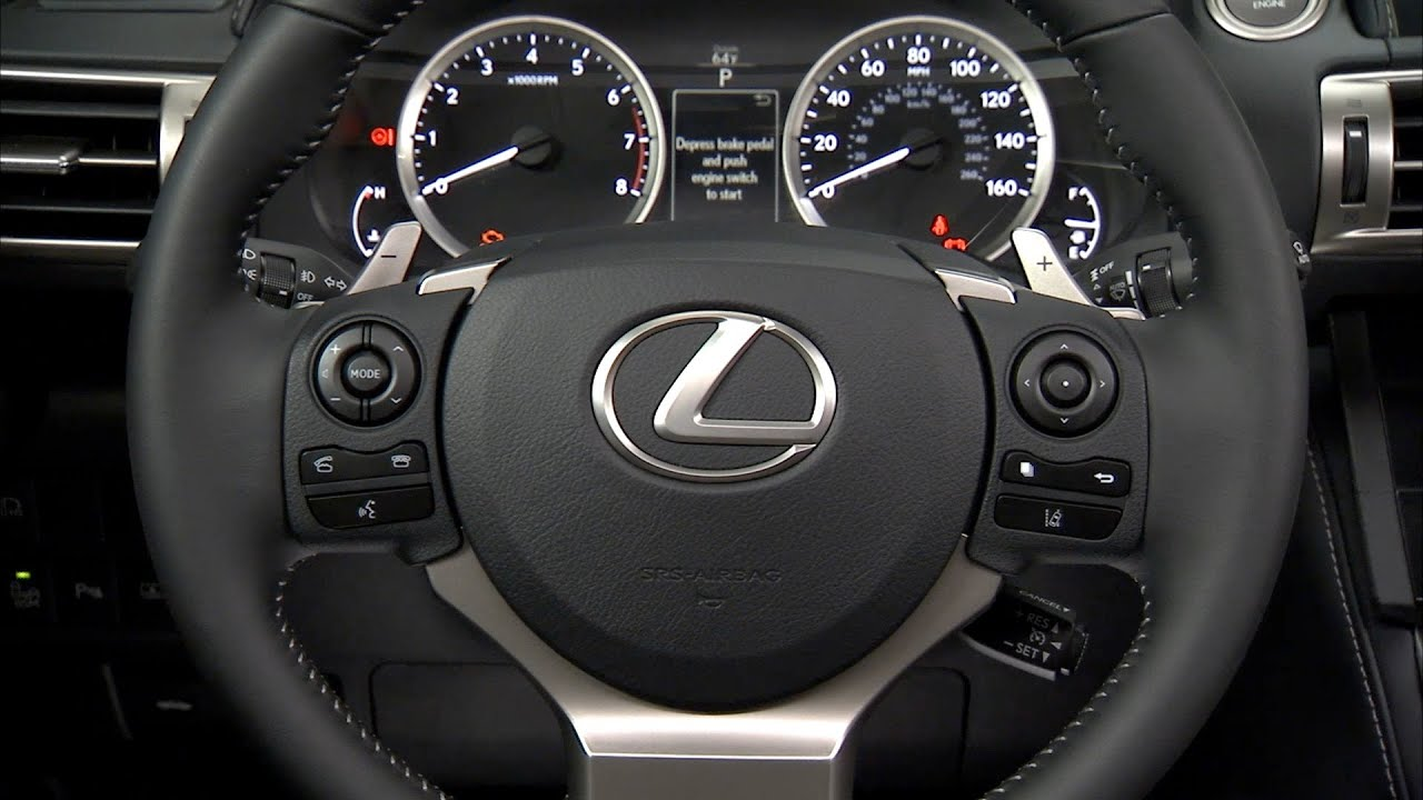 2014 Lexus IS 250 INTERIOR - YouTube