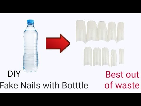 Fake Nails With Old Bottle    DIY fake nails    Fake nails at home   