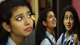 Priya prakash Varrier Behaviour in Makeup room|| on location Oru Adaar Love||beautiful song