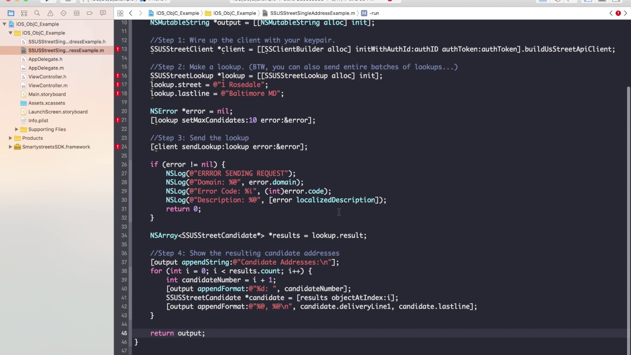Getting Started With The SmartyStreets IOS SDK In Objective C - Smartystreets