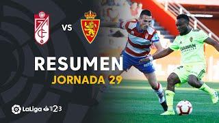Resumen de Granada CF vs Real Zaragoza (1-0)