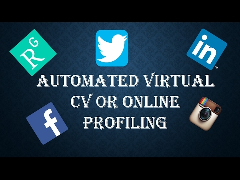 Automated virtual CV or Automated online profiling