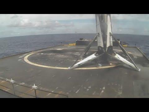 Моменты старта и посадки SpaceX Falcon 9 (Bulgariasat-1) 23/06/2017