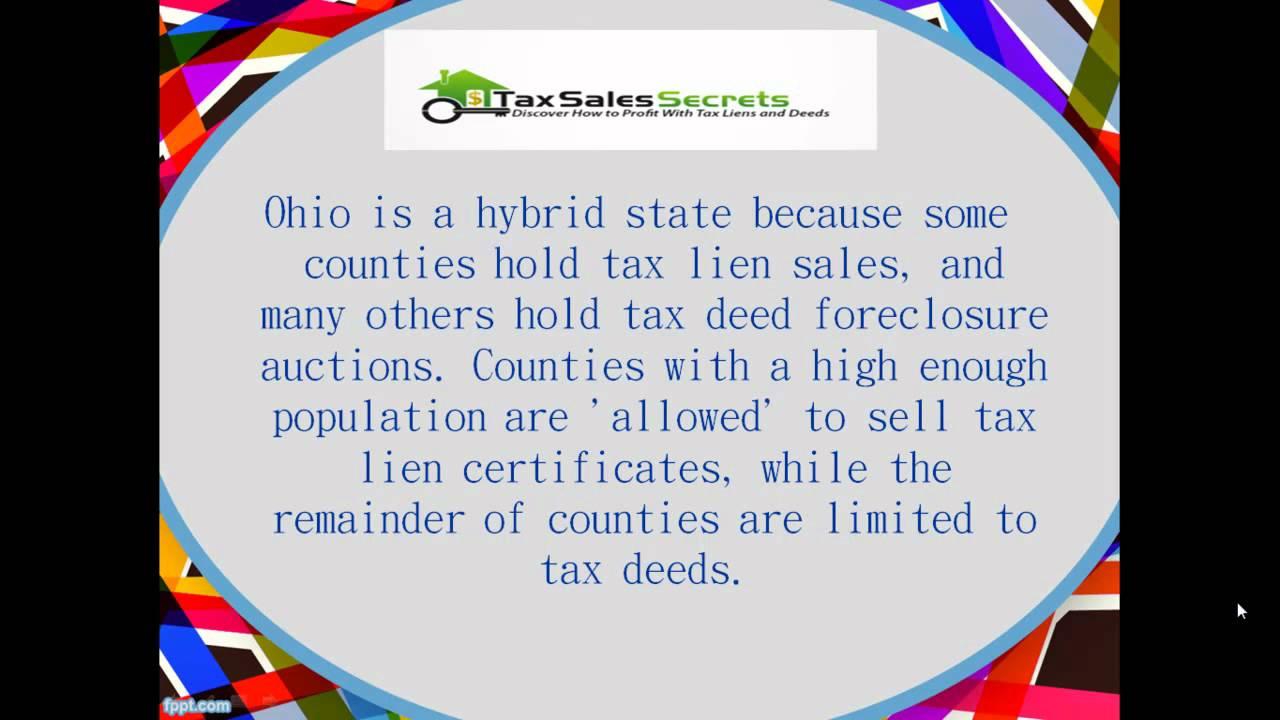 Ohio Tax Deeds Youtube