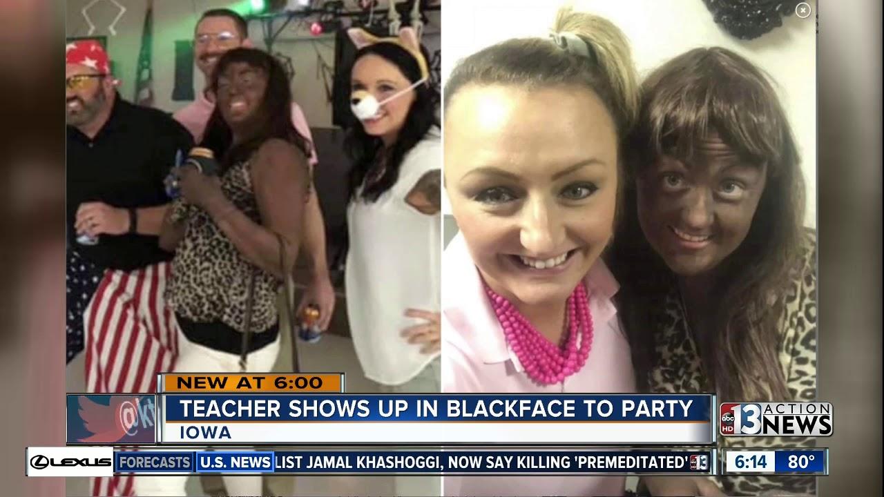 Iowa teacher under investigation after wearing blackface to Halloween party