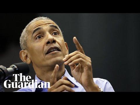 Obama attacks Trump\'s response to migrant caravan