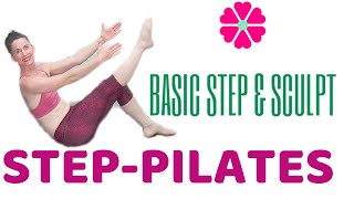 60 MINUTE WORKOUT |BASIC STEP AEROBICS & PILATES YOGA SCULPT | LEARN STEP AEROBICS | STEP CLASS| AFT