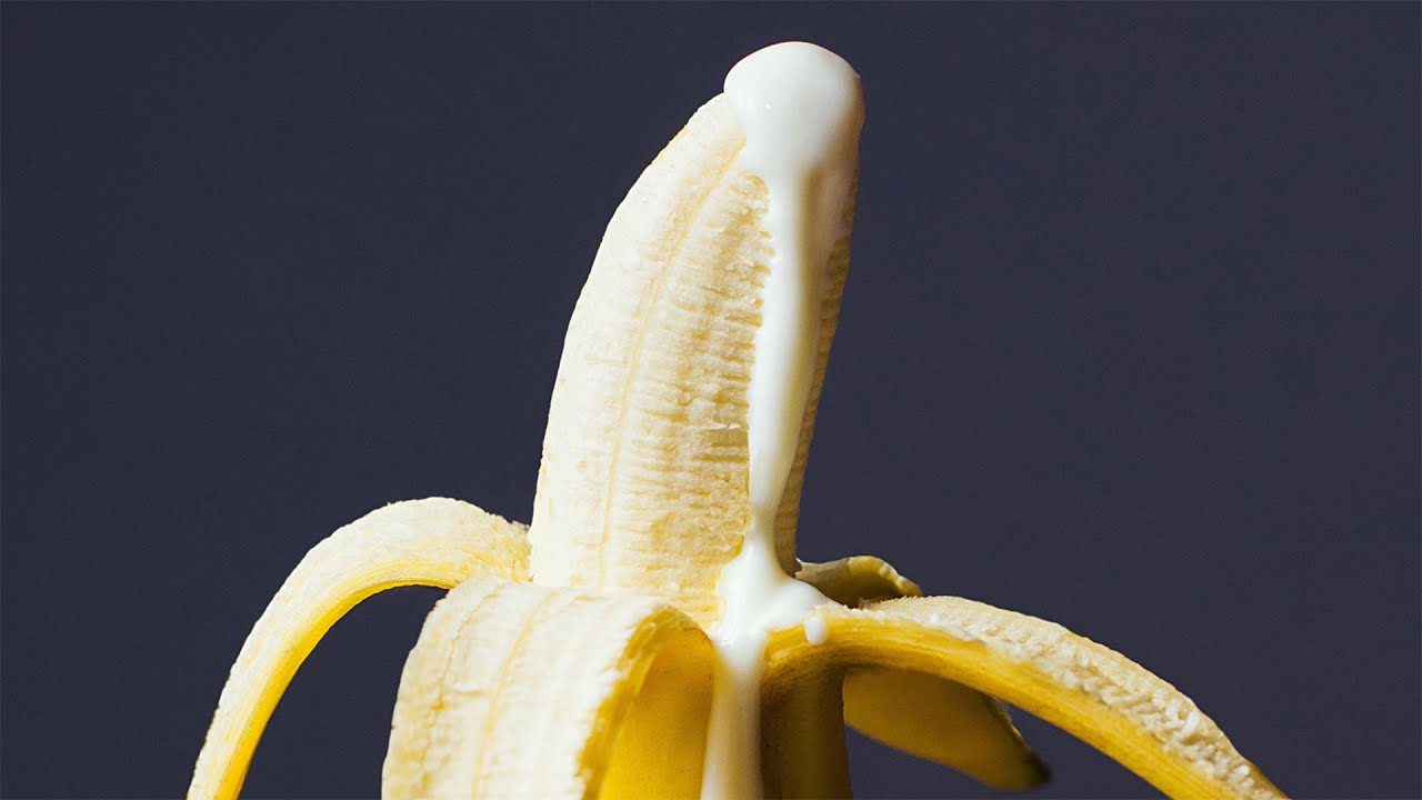 Male masturbation with fruits