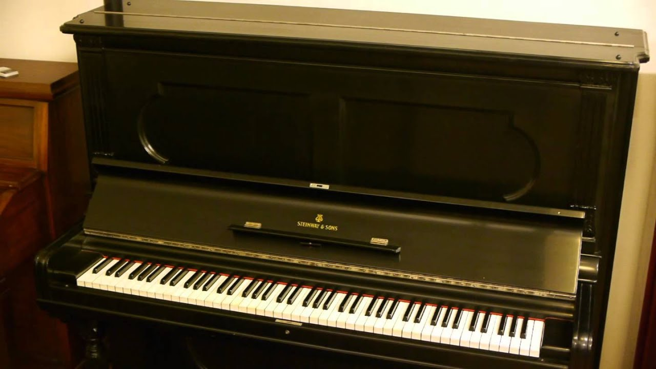 steinway sons professional upright piano used steinway upright piano youtube. Black Bedroom Furniture Sets. Home Design Ideas