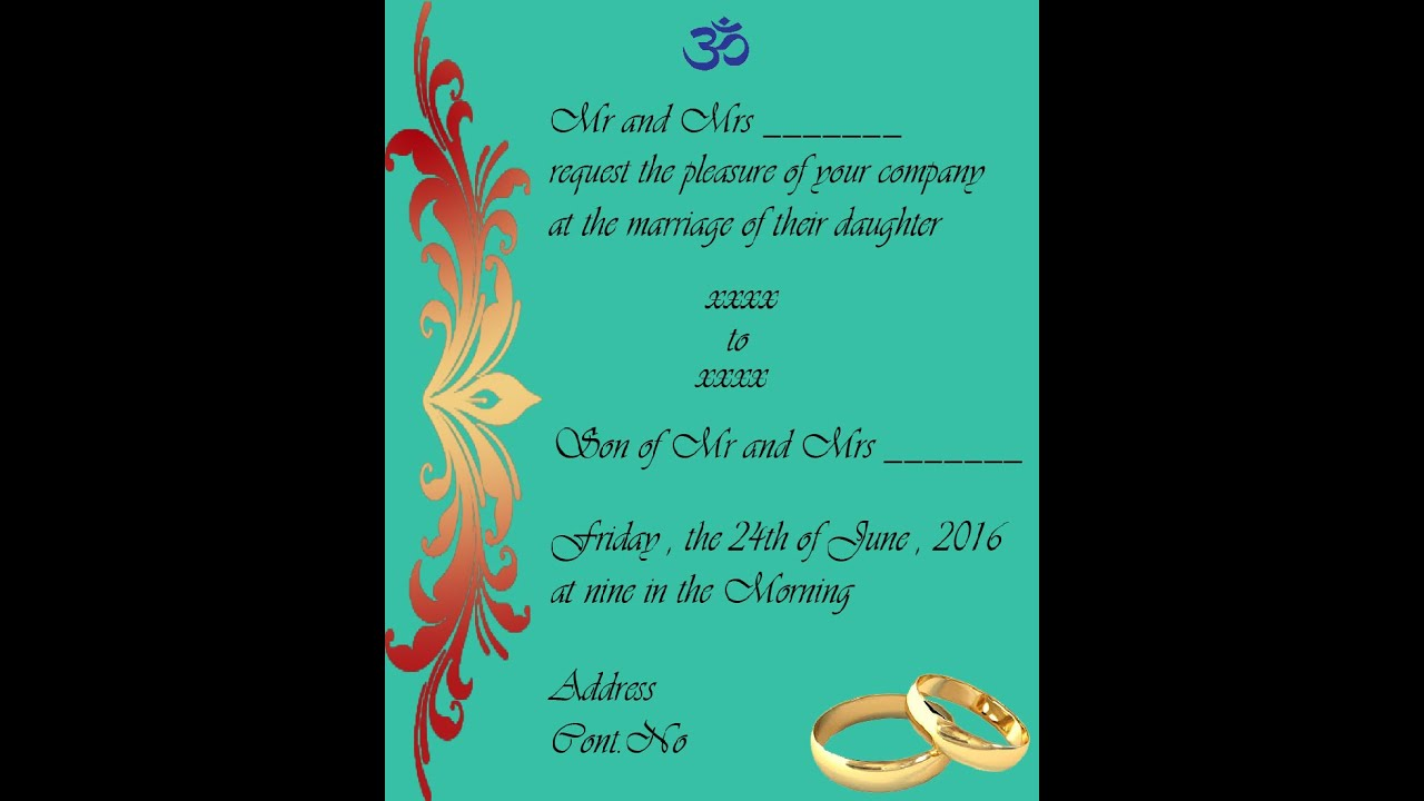 How to design a marriage invitation card in photoshop in tamil how to design a marriage invitation card in photoshop in tamil with esubs stopboris Image collections