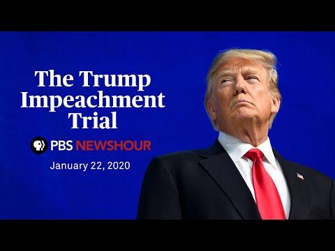 WATCH LIVE: Trump impeachment trial — January 22