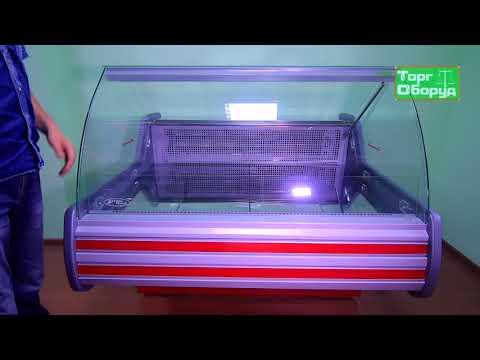 Видео холодильная витрина Технохолод ПВХС-«НЕВАДА»-1,4 на сайте Torgoborud.com.ua