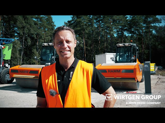 Asfaltsläggare, krossar, vältar OCH ett helt asfaltsverk på Wirtgens Demodagar i Växjö