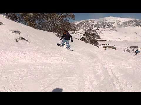 Snowboarding At Falls Creek, Victoria, Australia