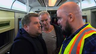 Download James Corden, Sting, & Shaggy Attempt Subway Karaoke   60th GRAMMYs Mp3 and Videos