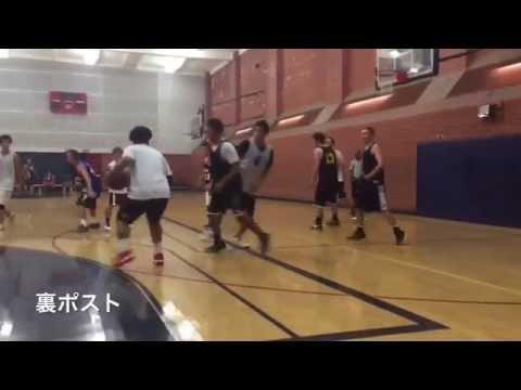 【Low post play】ポストの裏をパス回しでボールを入れて得点するテクニック