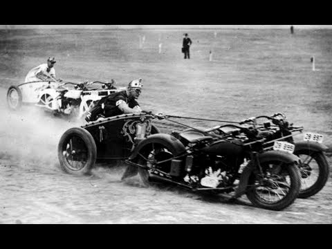Motorcycle Chariot Race 1920s  -1940s