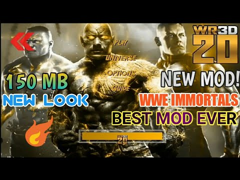 New Mod! Wr3d 20 Mod | By Mike Bail | WWE Immortals Mod