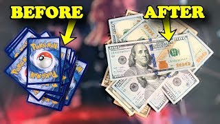 How To Turn Your Pokemon Cards Into Real Money! *works 100%*