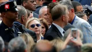 Battling pneumonia, Clinton falls ill at 9/11 ceremony