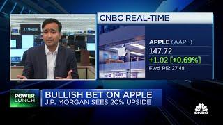 JPMorgan sees 20% upside for Apple shares