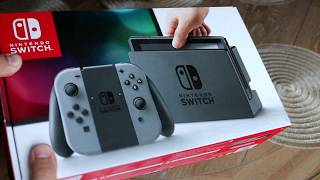 Nintendo Switch 32GB Console with Gray Joy Con from Newegg Unboxing