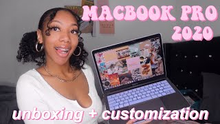 "UNBOXING AND CUSTOMIZING MY NEW MACBOOK PRO 2020 13"" + CUTE MACBOOK ACCESSORIES!"
