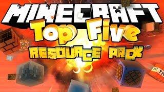 Minecraft TOP 5 MINECRAFT RESOURCE PACKS! thumbnail