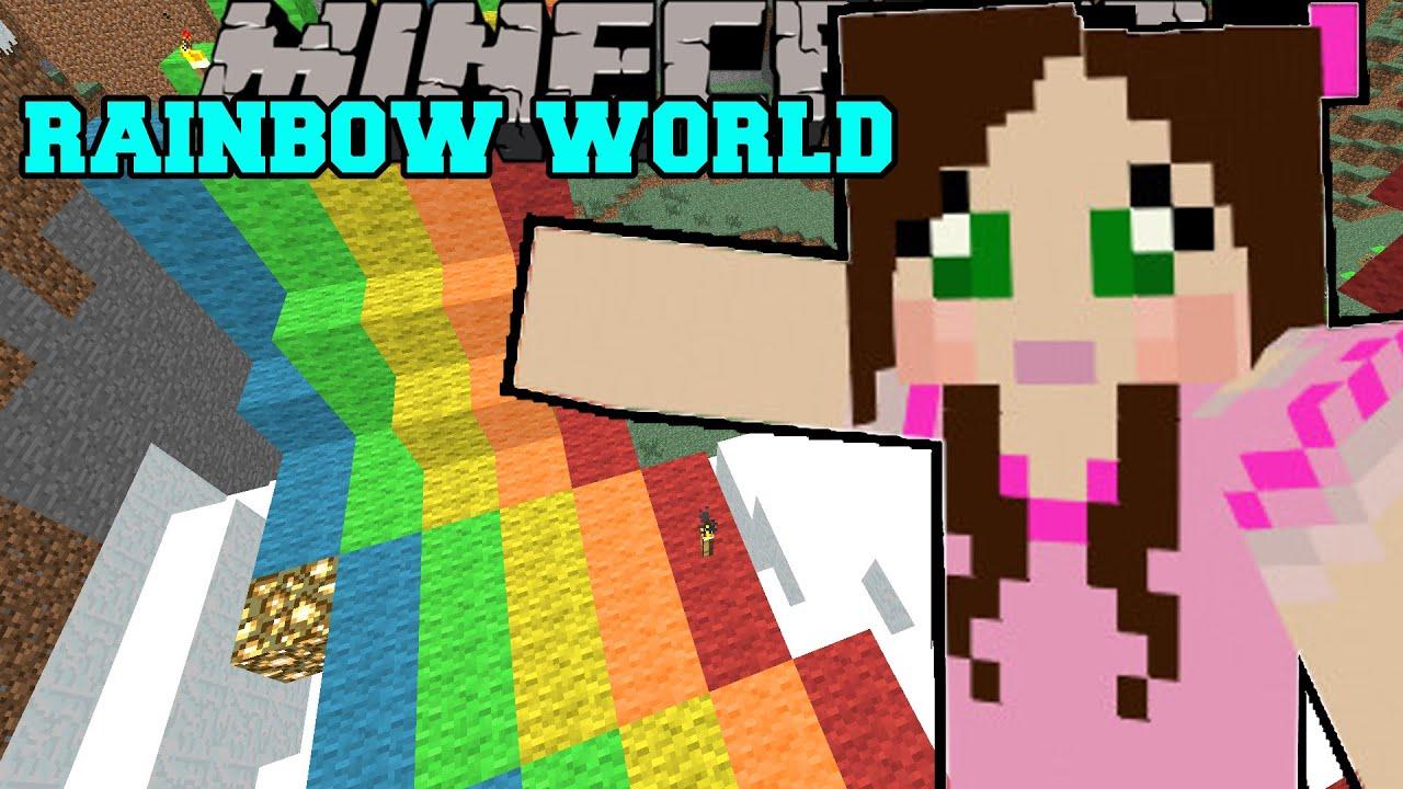 Minecraft: WORLD OF RAINBOWS! - Christmas Trolling - Custom Map [4 ...