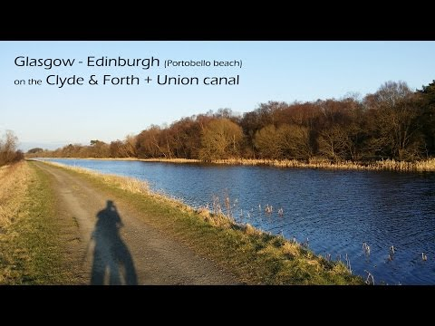 Glasgow to Edinburgh (Portobello beach) on the Clyde&Forth + Union canal