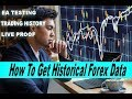 How To Get Historical Forex Data - MetaTrader 4 tutorial