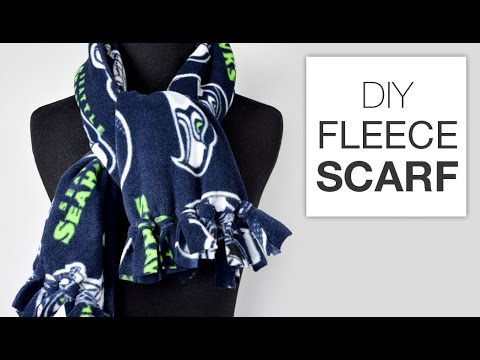 DIY Fleece Scarf Tutorial - YouTube