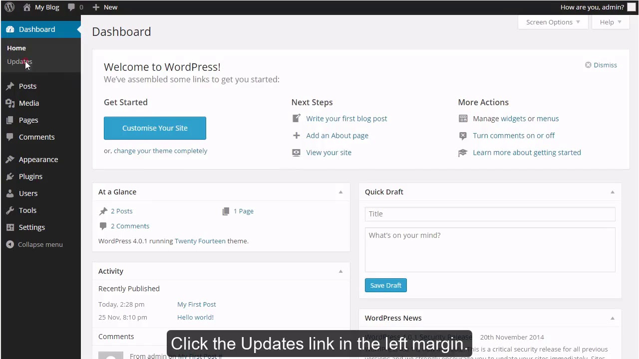 How to update your WordPress installation?