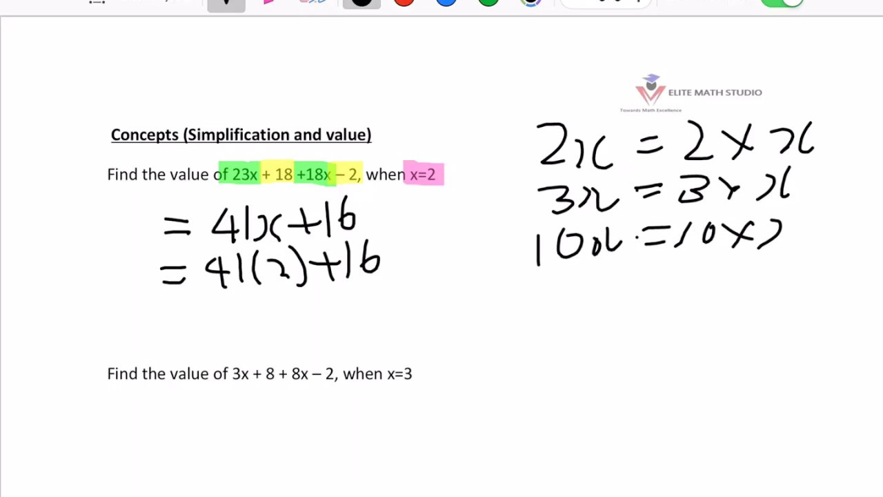 Primary 6 Math Algebra Singapore - YouTube