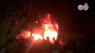 فيديو| الحماية المدنية تسيطر على حريق بورشة ميكانيكا بصقر قريش