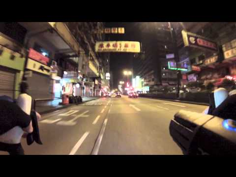 Riding in Kowloon