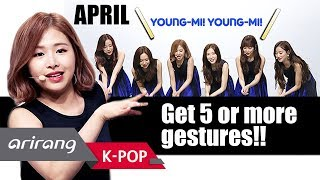 [Simply K-Pop] APRIL(에이프릴), Get 5 or more gestures together in 1 minute! _ Ep.304 _ 032318