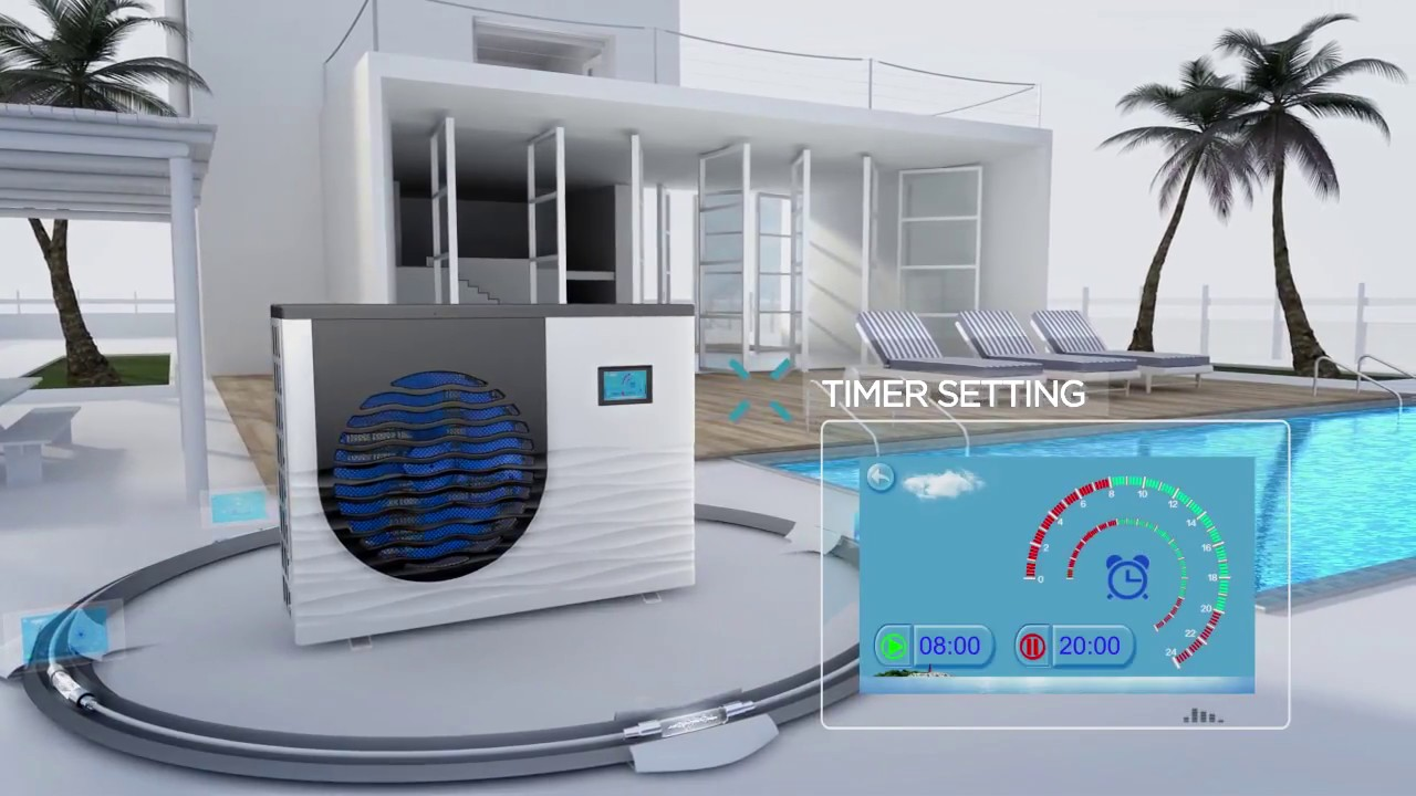 Full Inverter Swimming Pool Heat Pump - Variable Speed