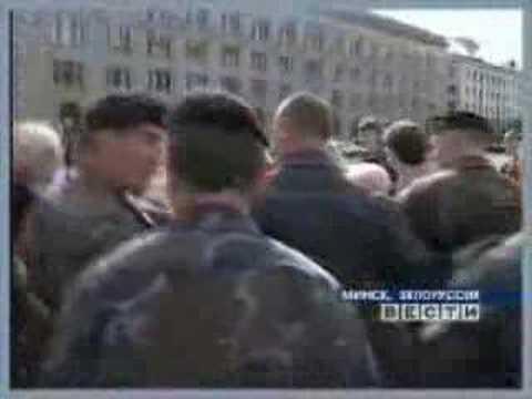 Cотрудник омона ударил по лицу Завадскую