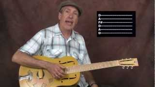 Learn Delta Acoustic Blues Lonnie Johnson inspired open D tuned Got The Blues for Murder Only style