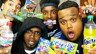 BRITISH TRYING AMERICAN CANDY!!