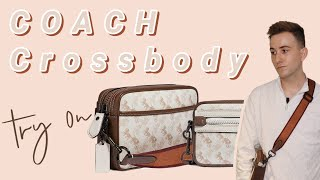 Coach Academy Crossbody unboxing and try on Horse and carriage print