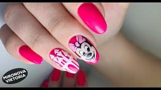 Сахарный замок на ногтях Комбинированный маникюр