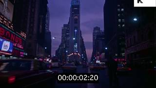 1960s Times Square at Night, HD from 35mm