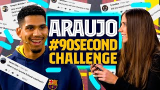 💇‍♂️🧔 Mingueza's hair or Mingueza's beard?! | ARAUJO'S #90secondschallenge