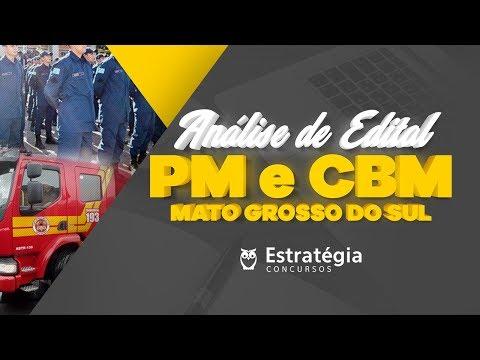Análise de Edital | PM-MS e CBM-MS 2018
