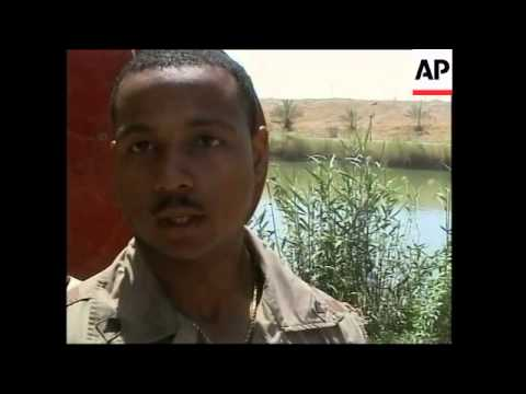 US soldier gets baptised in the waters of the Tigris river